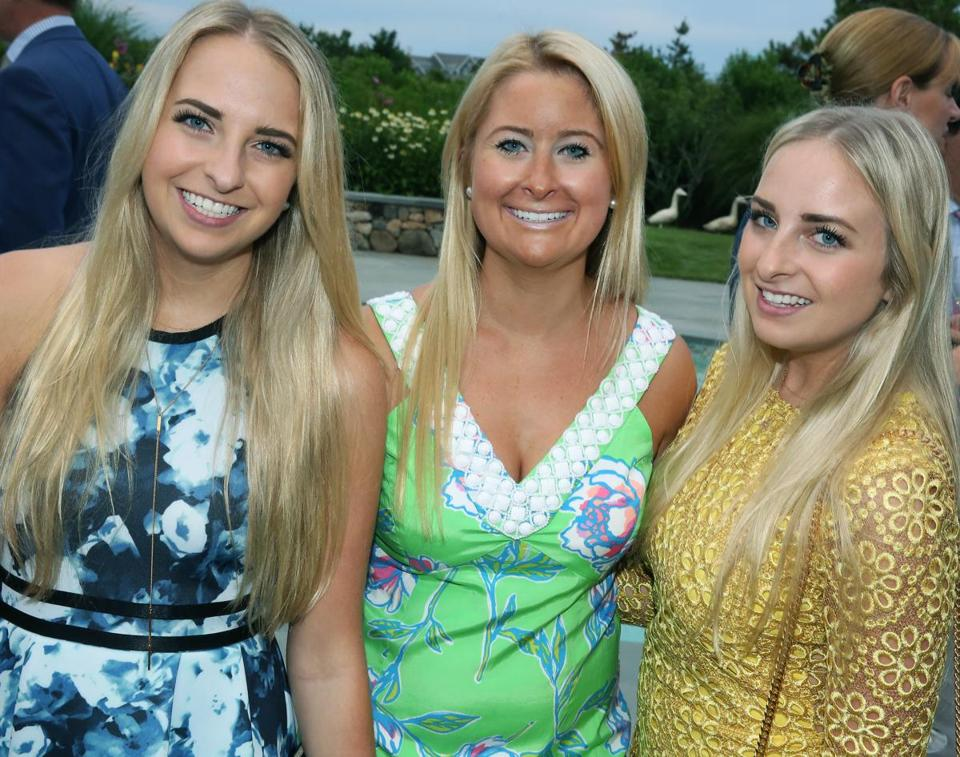 Caroline Hubbell (center) of Hull, with Katie (left) and Ashley Hess, both of Hingham.