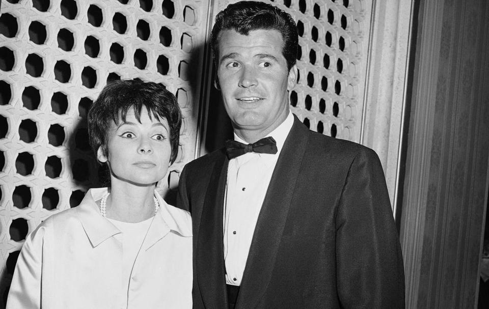 James Garner arrived with his wife, Lois Clark, at the 1958 Emmy Awards in Los Angeles