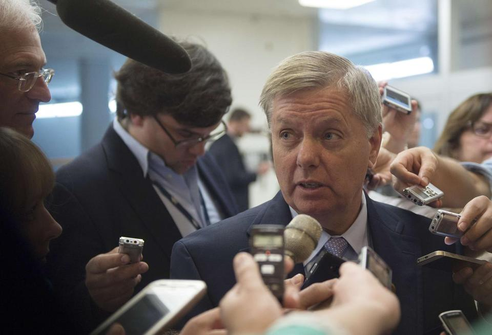 """There's a disaster in the making to our homeland and to losing the gains we fought for,"" said Senator Lindsey Graham, Republican of South Carolina."