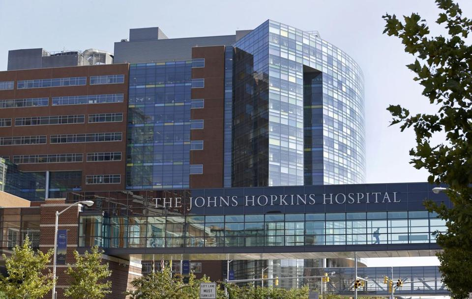 Part of the Johns Hopkins Hospital complex in Baltimore.