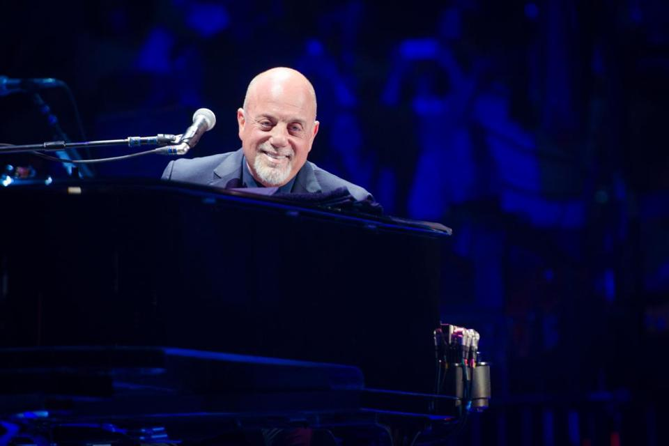 Billy Joel performed at Madison Square Garden in New York.