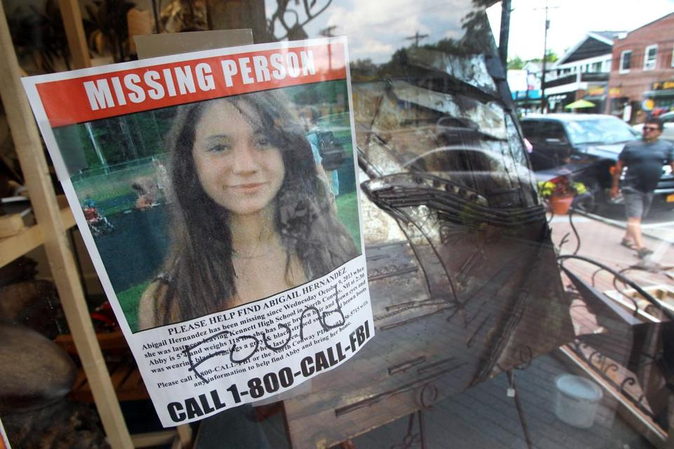 "A missing person sign for Abigail Hernandez now reads ""Found."""