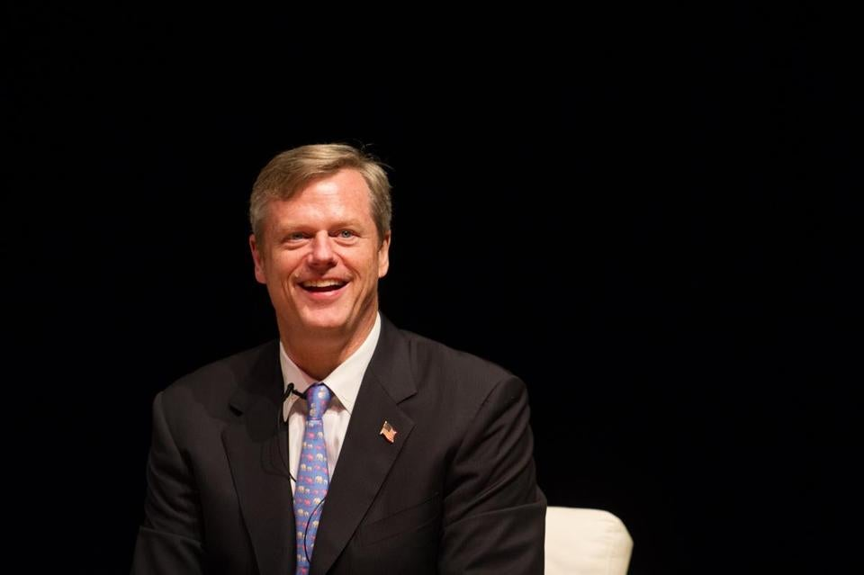 Republican Gubernatorial hopeful Charlie Baker is shown in a file photo taken at The Massachusetts School of Professional Psychology.