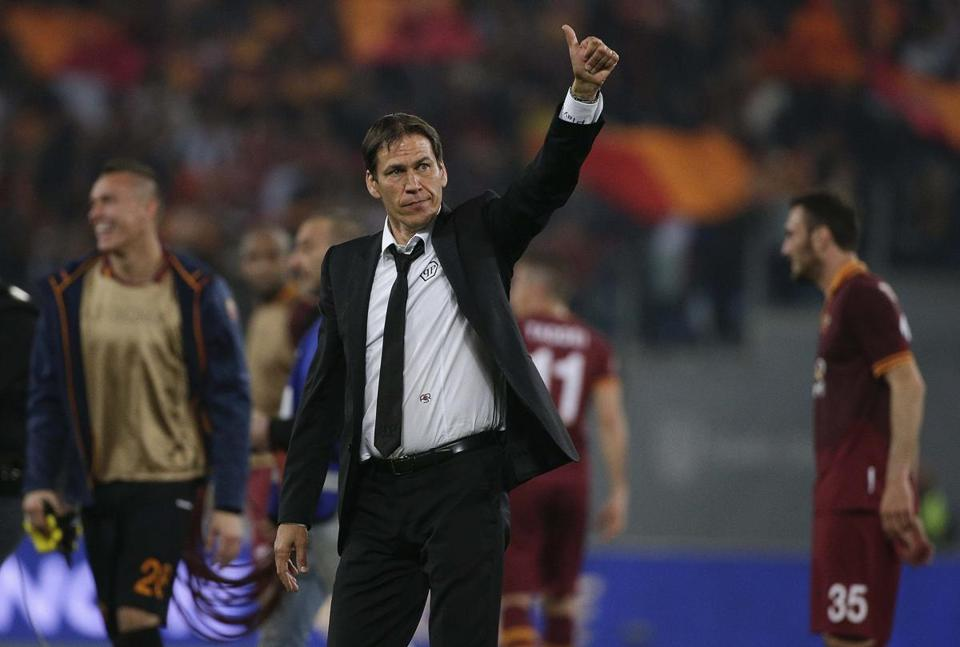 Rudi Garcia and AS Roma began the 2013 season with 10 consecutive wins. Max Rossi/Reuters