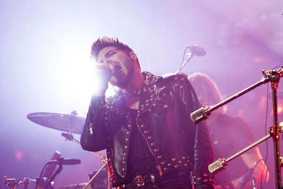 Adam Lambert took the role of Freddie Mercury as Queen performd at the TD Garden Tuesday.