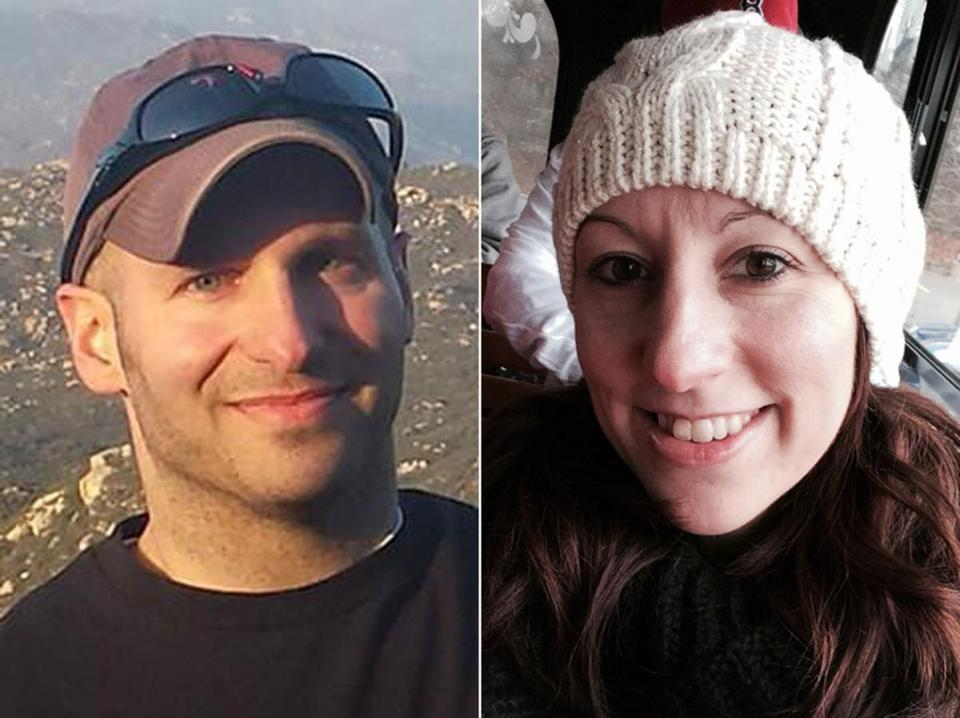From left, Jason Przybylek and Erin Mandeville.