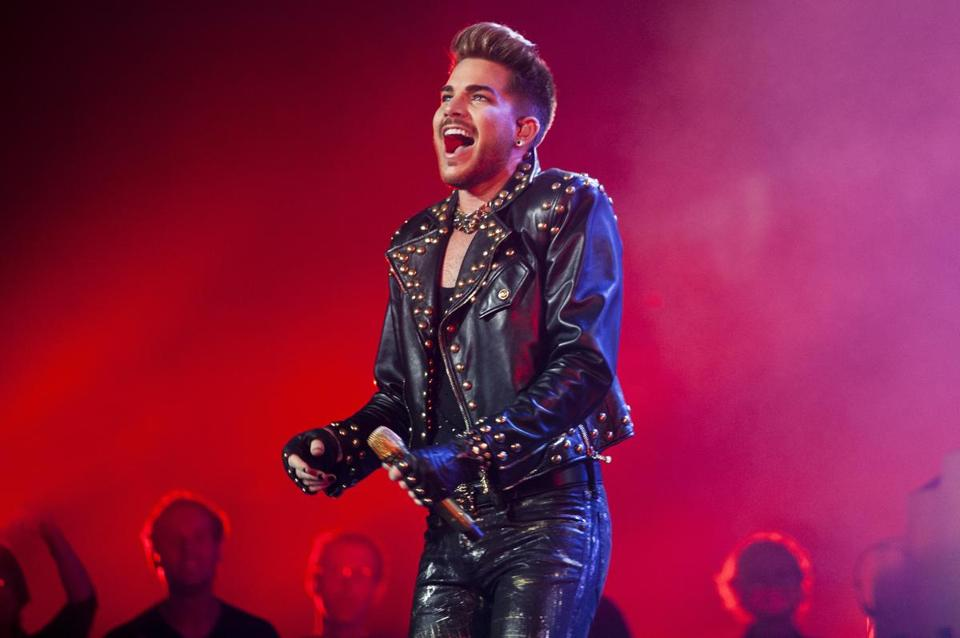 Adam Lambert took on the role of Freddie Mercury with Queen in an intriguing, thoughtfully curated, 2-hour, 10-minute performance at TD Garden.