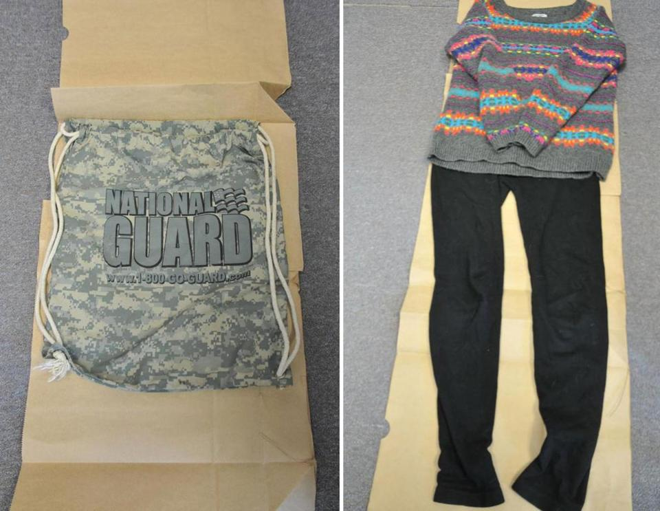 Authorities want to talk to anyone who saw a girl carrying the bag on the left or wearing the clothes on the right.