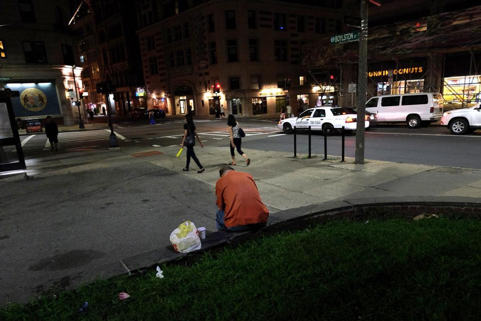 The stretch of Boylston Street between Tremont and Washington streets has long been notorious as a destination for drug users and their dealers.