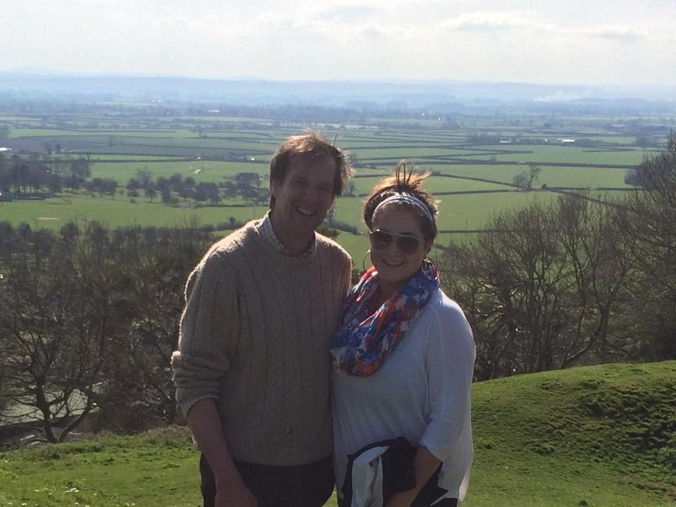 Brie Hurd (right), buyer at the Concord Cheese Shop, with cheesemaker Jamie Montgomery in Somerset, England.