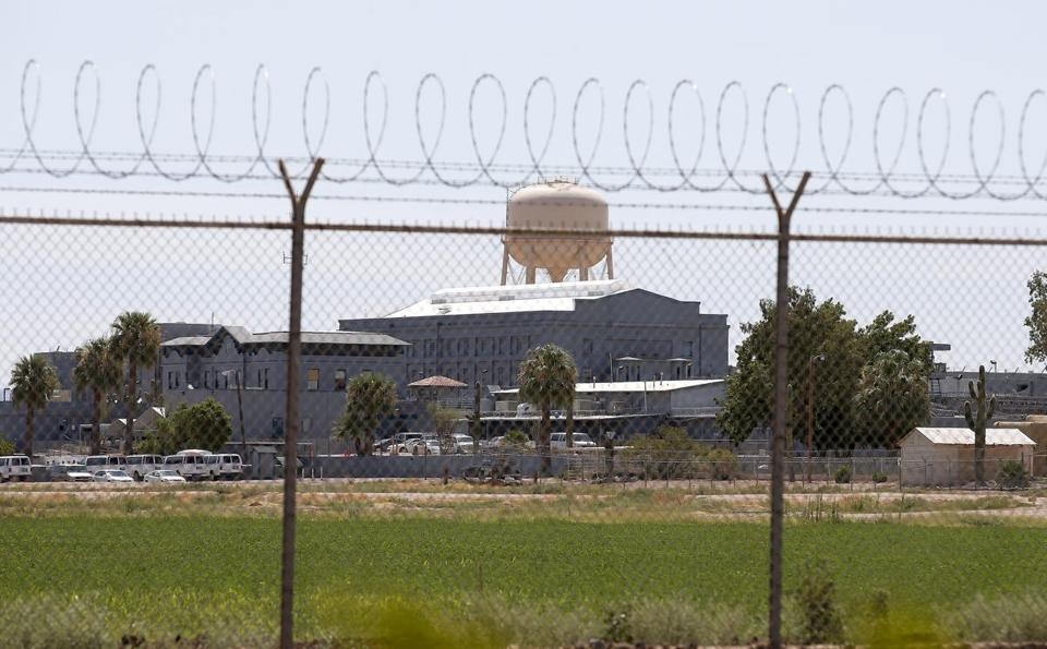 A fence surrounded the state prison in Florence, Ariz. where the execution of Joseph Rudolph Wood took place Wednesday.