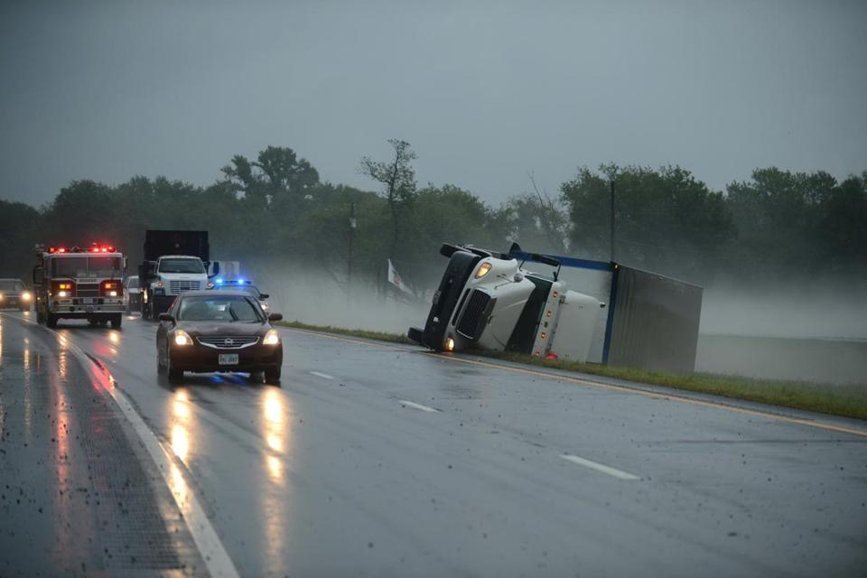 A severe storm passed through Virginia on Thursday.