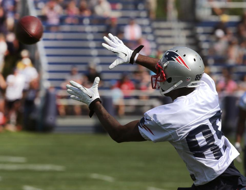 Kenbrell Thompkins made 32 catches as an undrafted rookie in 2013. (Barry Chin/Globe Staff)