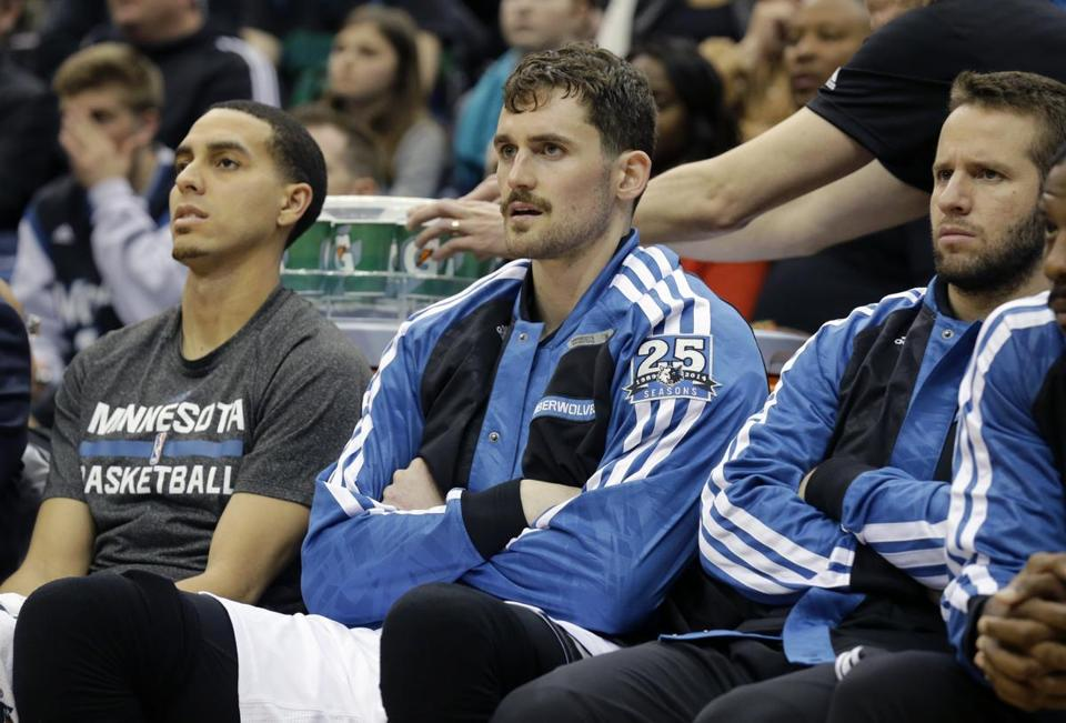 Kevin Love (center) averaged 26.1 points and 12.5 rebounds last season.
