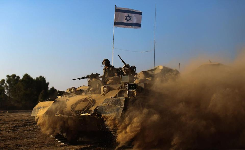 Israeli soldiers headed to the Gaza Strip on Sunday.