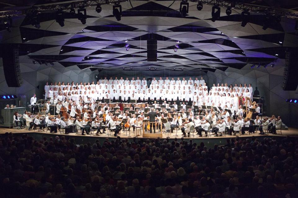 The Boston Symphony Orchestra performed at Tanglewood in July 2014.