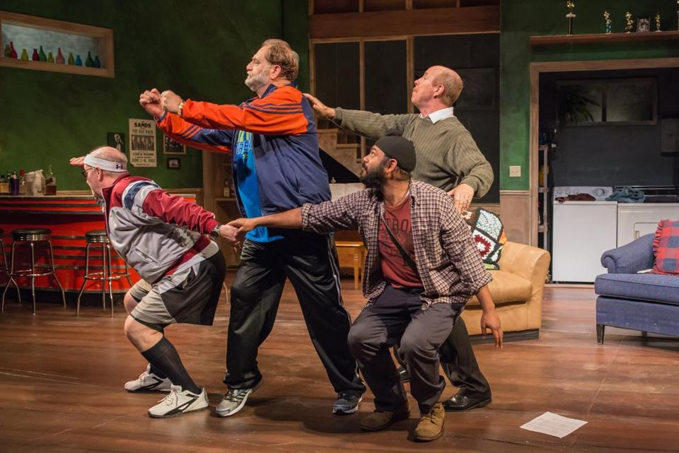 "From left: Wally Dunn, Ron Orbach, Rohan Kymal, and D.C. Anderson in ""The Fabulous Lipitones,"" at the Wellfleet Harbor Actors Theater."