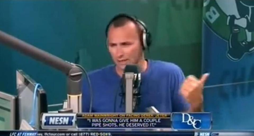 Kirk Minihane made vulgar on-air comments about a female reporter during a July 16 broadcast on WEEI.