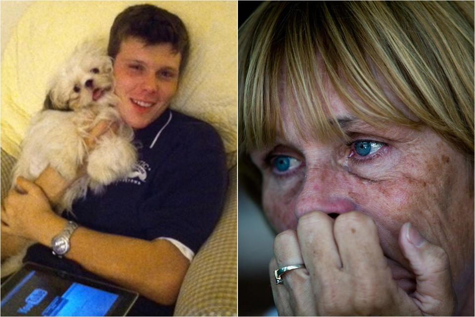 Susan Trachik lost her son Christopher (left) to heroin addiction.