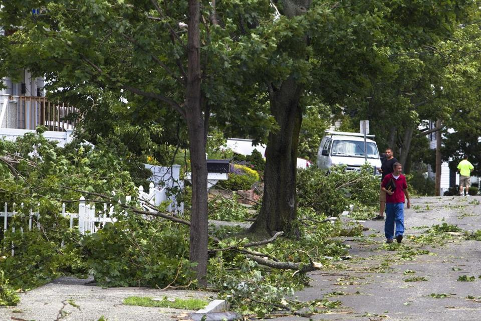 A tornado ripped through Revere Monday morning.