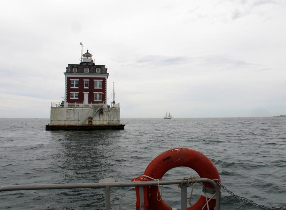 "One of the ""Sentinels on the Sound"" on the Maritime Museum tour is the 1909 Ledge Light, built in the fashion of a miniature brick mansion."