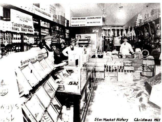 The original Star Market in Watertown, operated by the Mugar family, in 1921.
