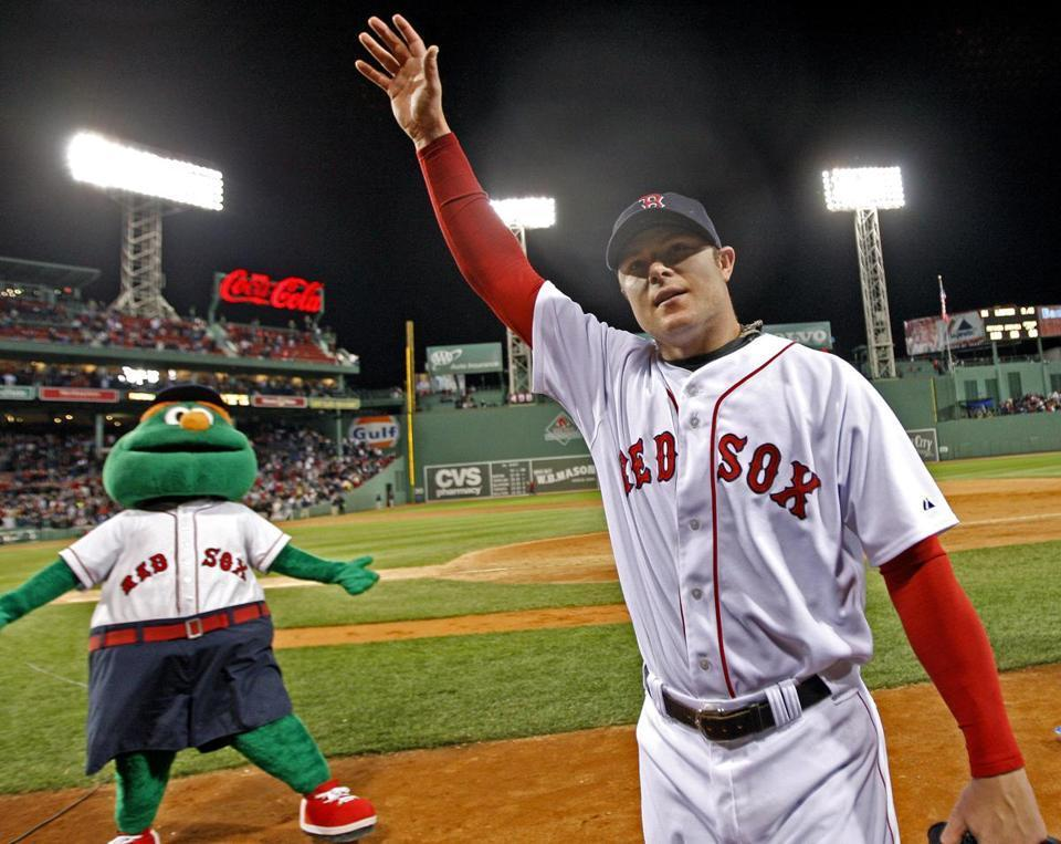 Lester saluted the Fenway Park crowd after his no-hitter.