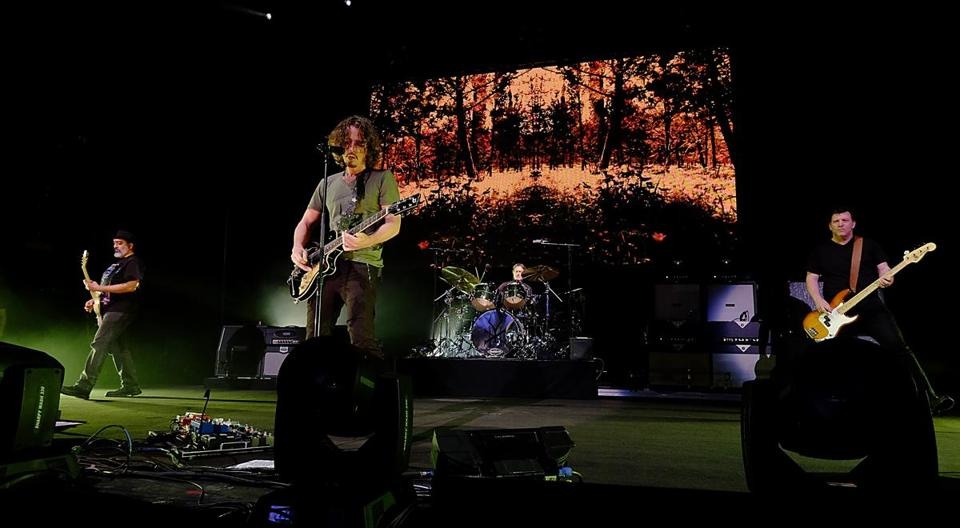 "Soundgarden, with frontman Chris Cornell, performed in Mansfield, Tuesday. The band did a remarkable job of acting as though ""Superunknown"" was released just yesterday."