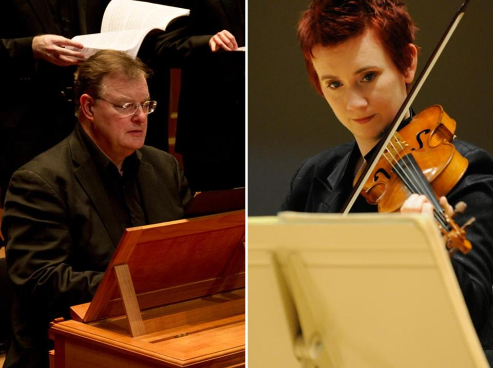 Ian Watson and Aisslinn Nosky will codirect when the Handel and Haydn Society performs Bach's six Brandenburg Concertos at Gardner Museum Dec. 7.