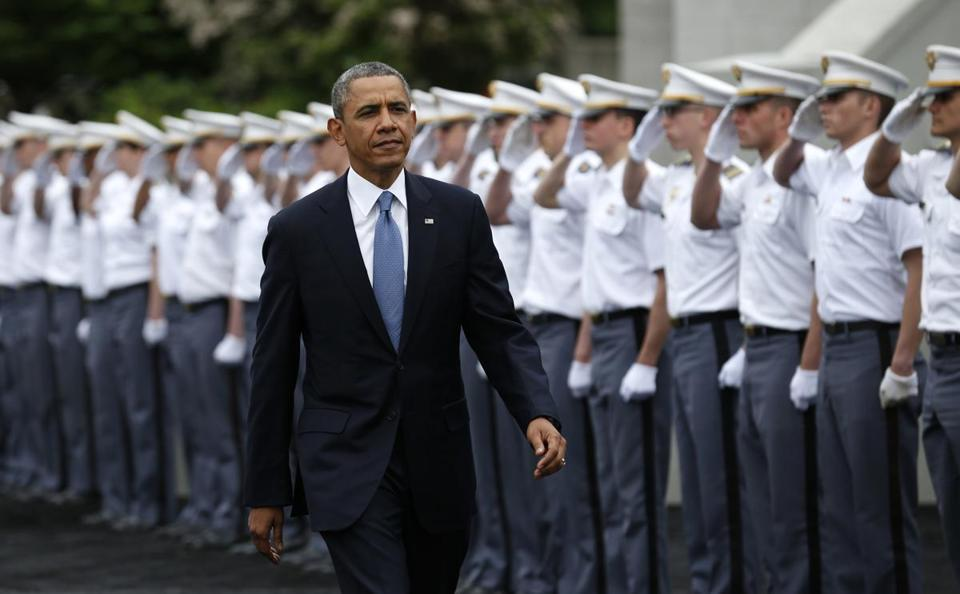 President Obama arrived at West Point for a commencement ceremony.