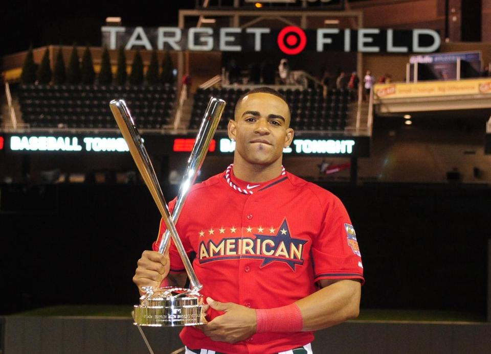 Yoenis Cespedes won baseball's Home Run Derby for the second straight year on July 14 in Minnesota.