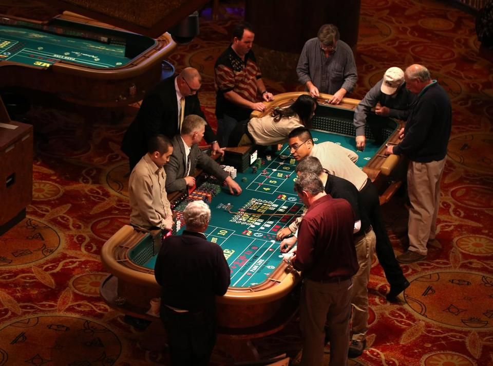 The craps table at the Mohegan Sun Casino in Connecticut.