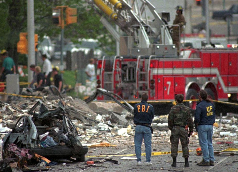 The 1995 bombing of the federal building in Oklahoma City killed 168. Timothy McVeigh was convicted in the case.