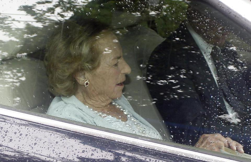 Ethel Kennedy, widow of Robert F. Kennedy, arrived at the compound.