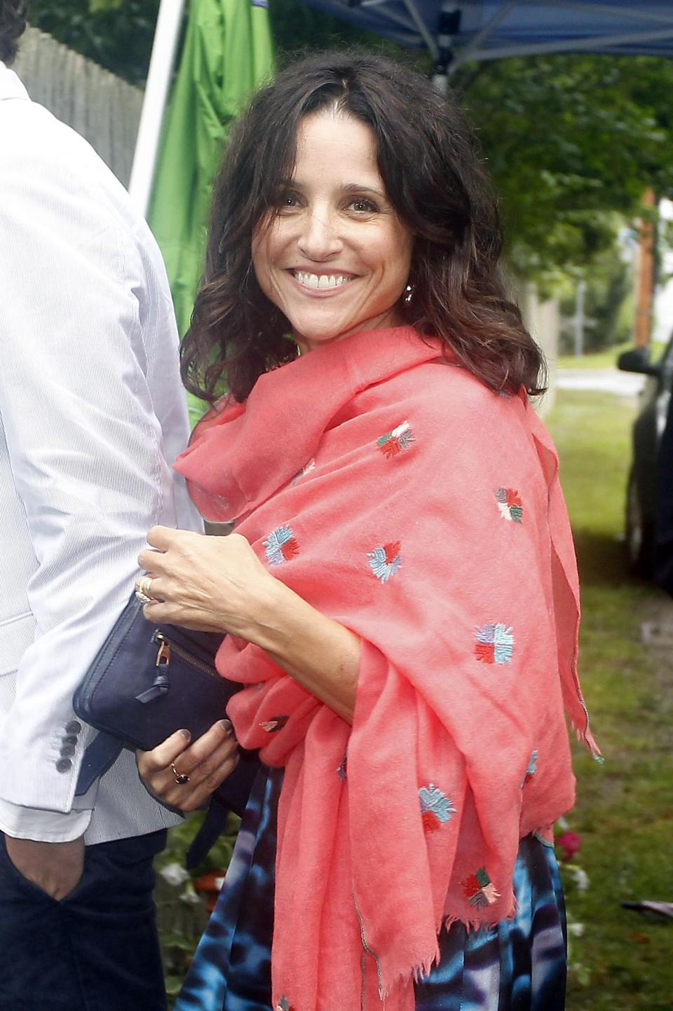 Julia Louis-Dreyfus arrived at the Kennedy compound for the wedding.