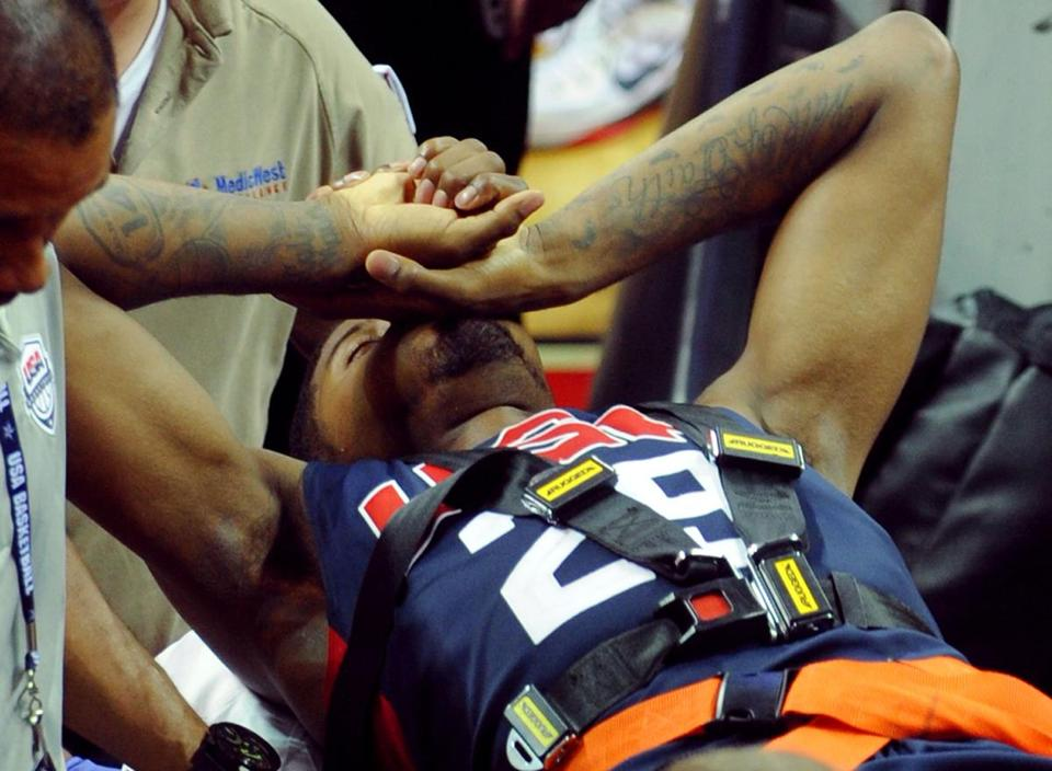 Paul George had an operation at Sunrise Hospital to repair the open tibia-fibula fracture.