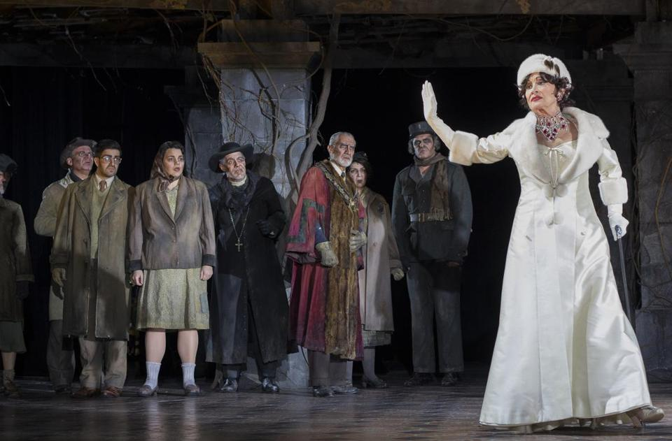 "Chita Rivera (right) leads the cast of ""The Visit"" at Williamstown Theatre Festival."