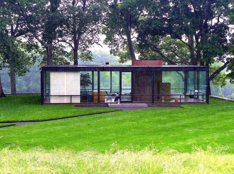 Set in a bucolic area of New Canaan, Philip Johnson's Glass House shows a different landscape from every view.