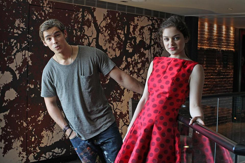 Boston, MA., 08/05/14, Brenton Thwaites and Odeya Rush, young stars of The Giver. The young stars and the writer of The Giver on press tour at Liberty Hotel. Suzanne Kreiter/Globe staff (The Boston Globe.