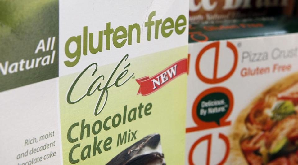 A variety of foods labeled Gluten Free are displayed in Frederick, Md. (AP Photo/Jon Elswick)