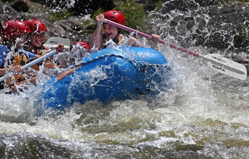 A trip on the Deerfield River will have rafters enjoying both white water and calm sections.