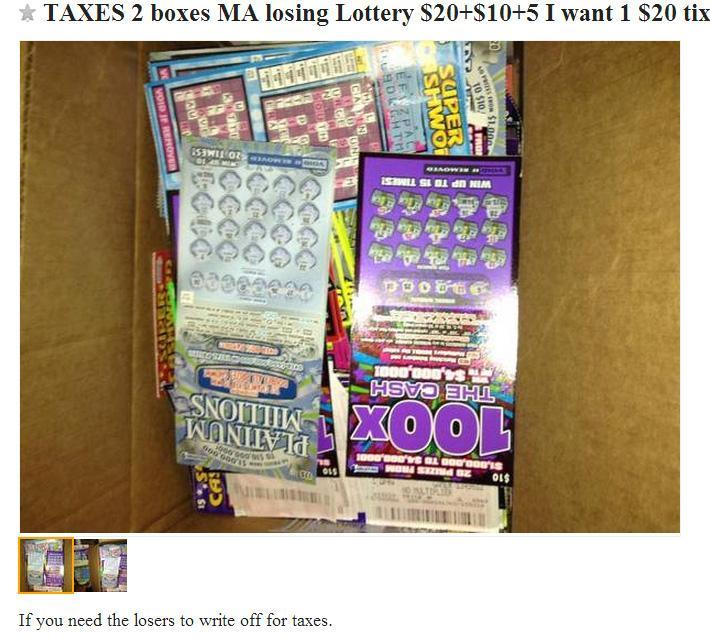 Efforts by online advertisers to buy or sell lottery tickets has given support to a sort of underground economy.