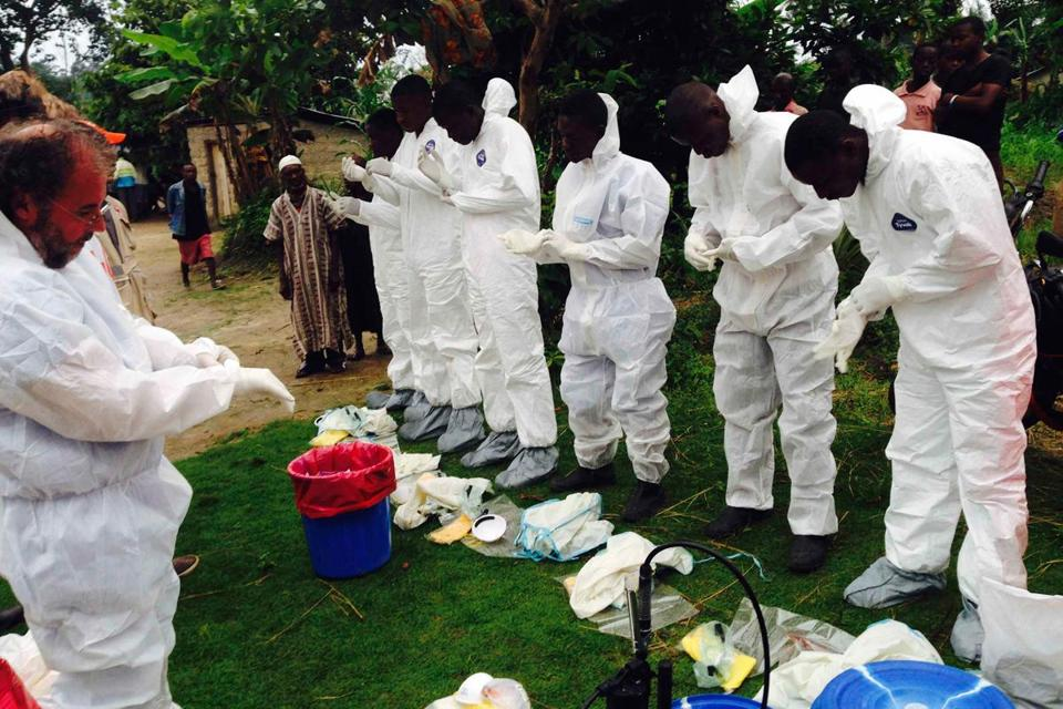 Even though Ebola has killed nearly 900 people so far this year, the disease typically happens in small, scattered outbreaks, which also makes it hard to test potential treatments on patients.