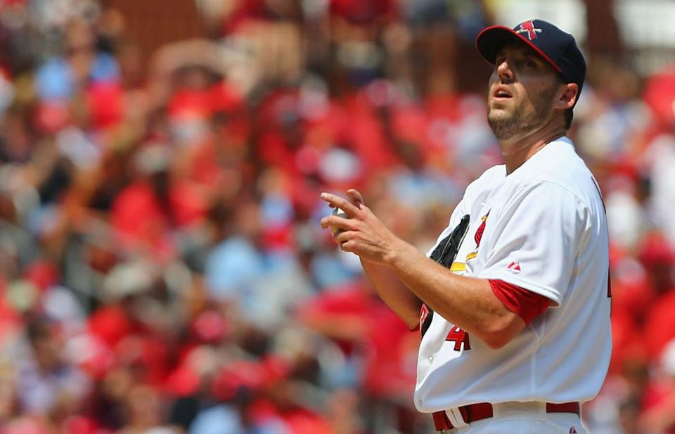"John Lackey thinks being with the Cardinals is ""a good place for me to be."" Dilip Vishwanat/Getty Images"