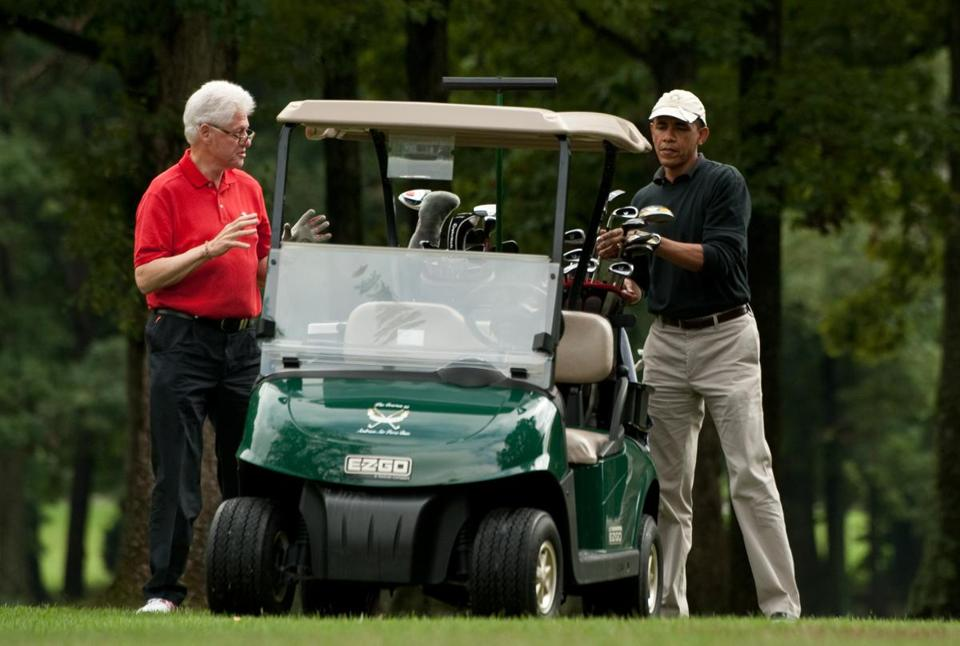 President Barack Obama and former President Bill Clinton played golf together in 2011.