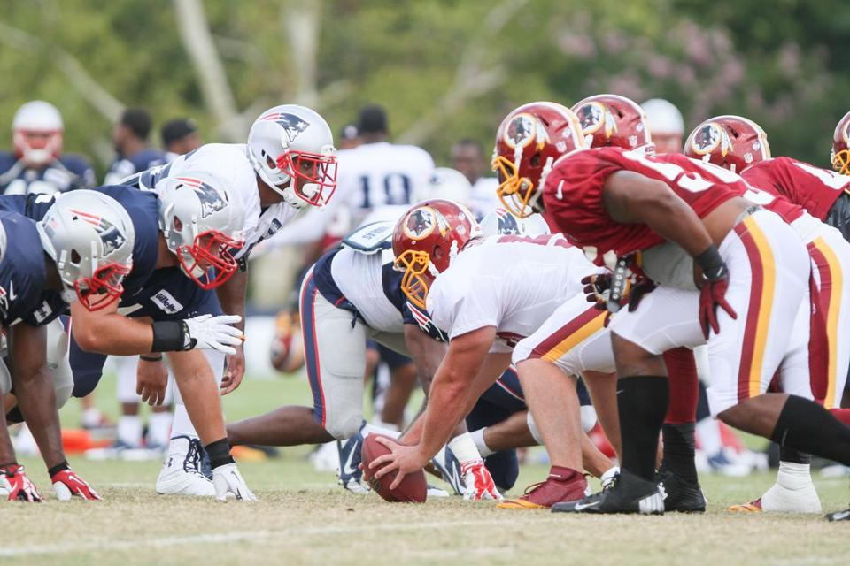 The Patriots and Redskins were in agreement, right down the line, that their joint workouts were a success. AP Photo/Skip Rowland