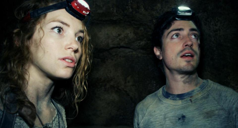 "Perdita Weeks and Ben Feldman in ""As Above/So Below."""