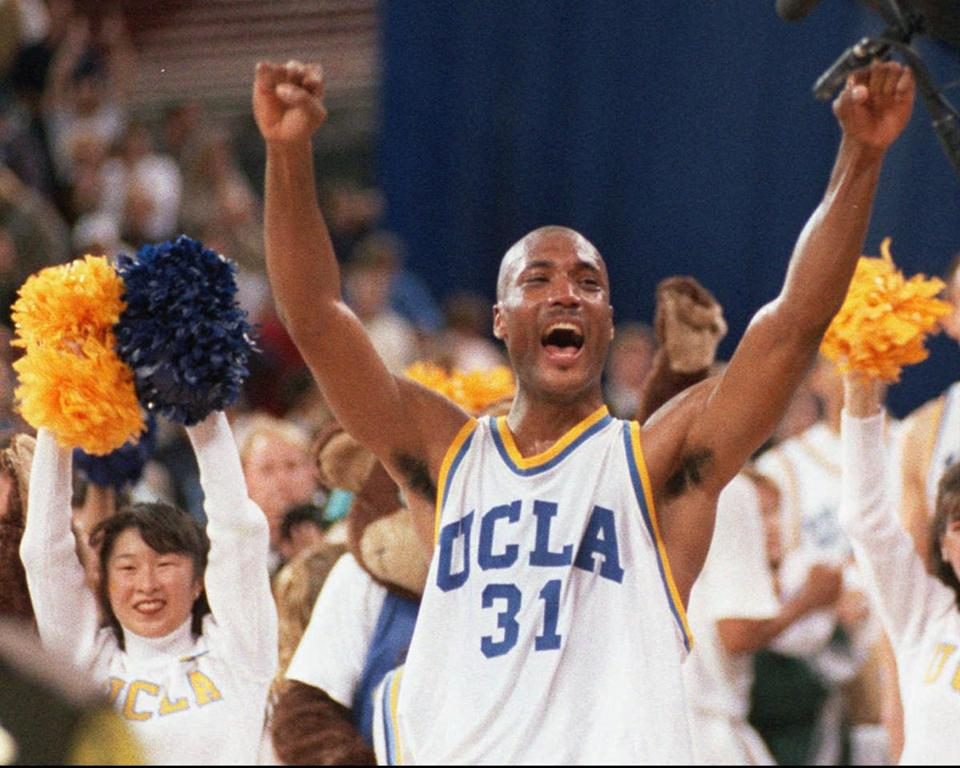 Former UCLA basketball player Ed O'Bannon and 19 others brought the landmark case against the NCAA. (AP Photo/Eric Draper, File)