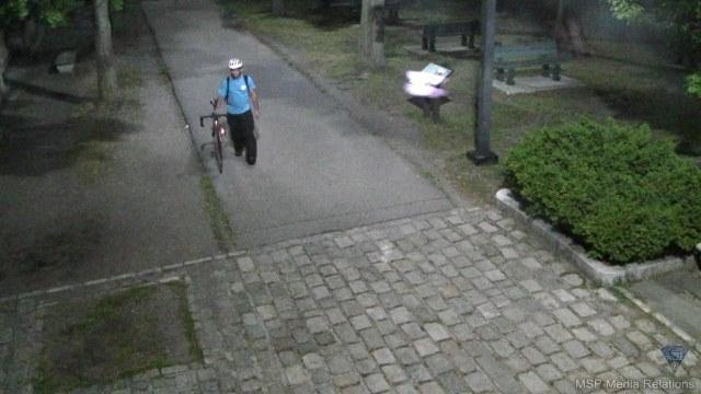 A State Police camera on the Esplanade captured this photo of a man police believe assaulted a woman just after midnight Friday.