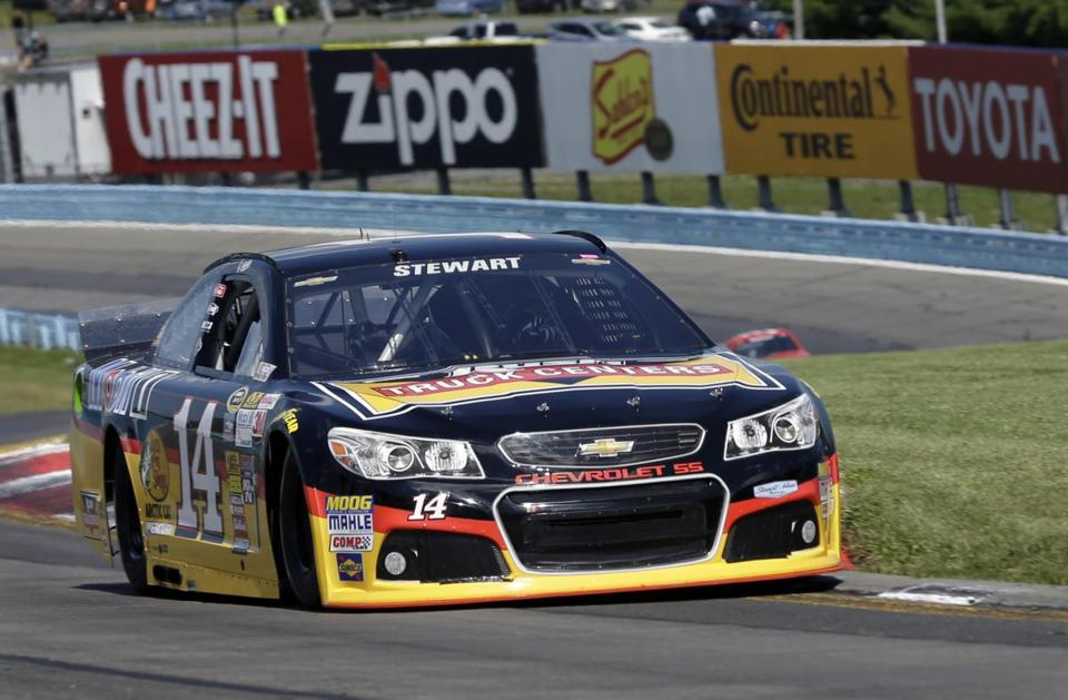 Tony Stewart drove during a qualifying session at Watkins Glen on Saturday.